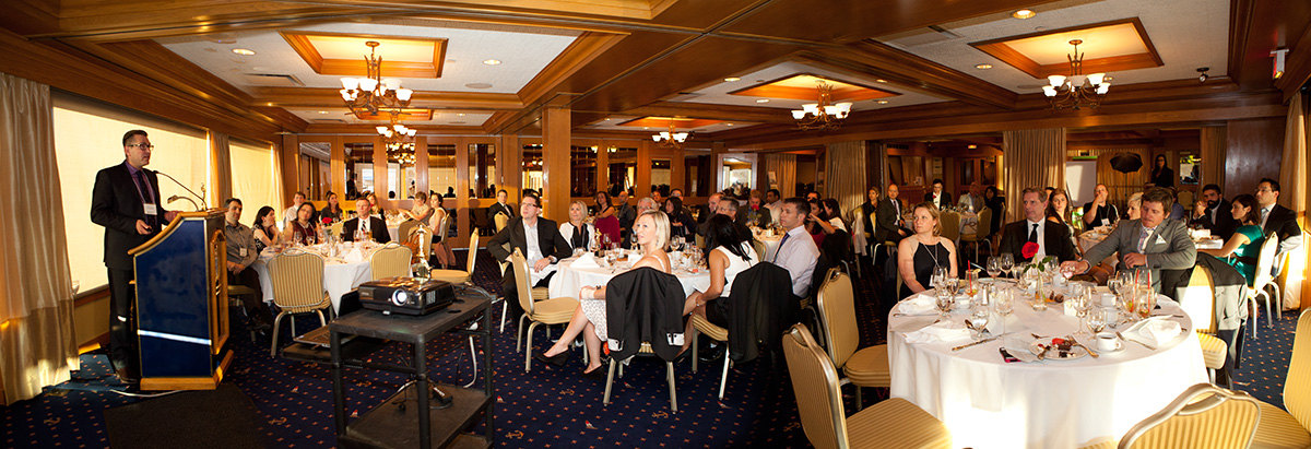 The beautiful venue at the Royal Vancouver Yacht Club